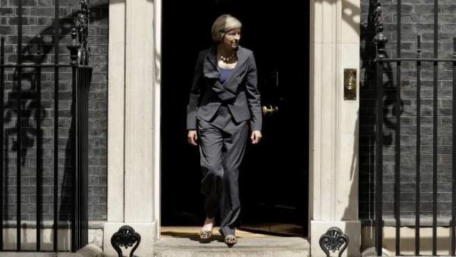 La primera ministra británica, Theresa May, en el 10 de Downing Street.