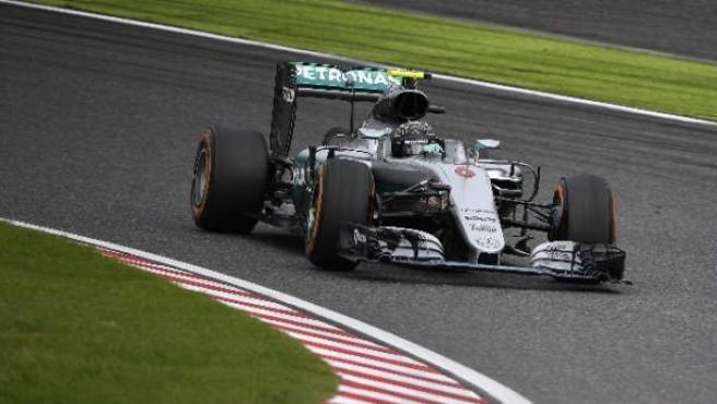 Rosberg, en el circuito de Suzuka.