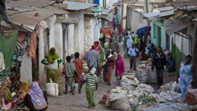 Una calle de Harar, al este de Etiopía.