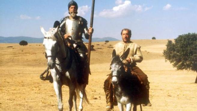 Una escena de 'El Quijote', con Fernando Rey y Alfredo Landa.