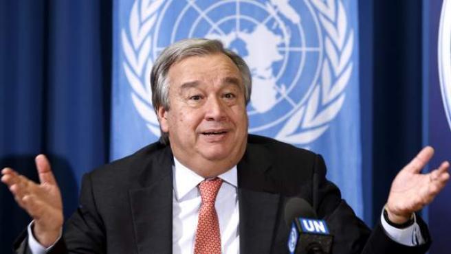 Antonio Guterres, durante una cumbre de la ONU en Ginebra en 2014.
