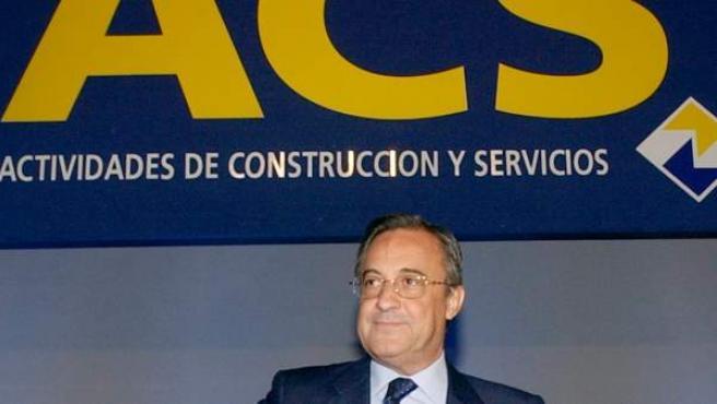Imagen de archivo del presidente de ACS, Florentino Pérez, durante una junta extraordinaria de ACS.