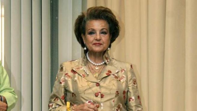 La actriz y presentadora Carmen Sevilla, en una imagen de archivo de 2007.