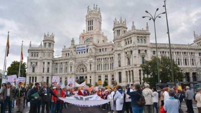 Imágenes de la manifestación de la Marea Blanca.