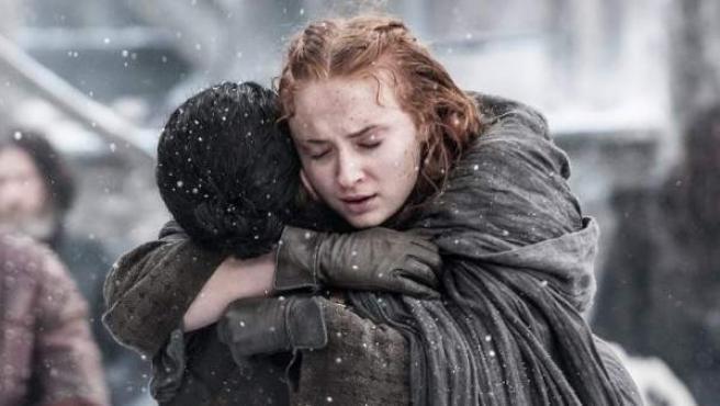 Jon Snow y Sansa Stark, en la 6ª temporada de Juego de tronos.