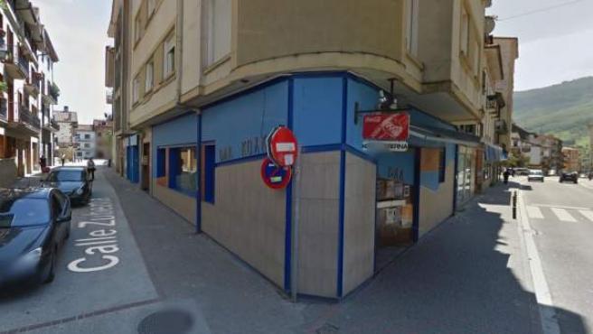 Imagen del bar donde se produjo una agresión a dos agentes de la Guardia Civil.