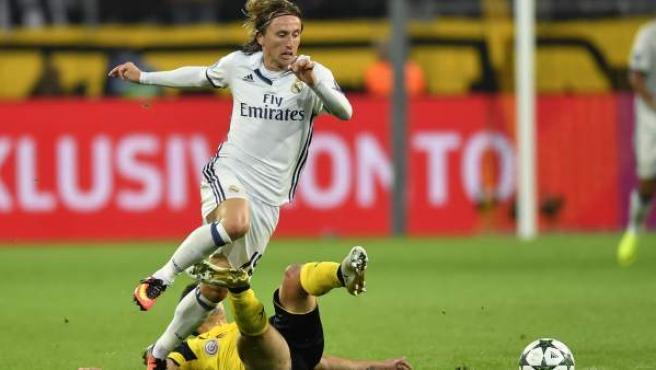 Luka Modric, ante el Borussia de Dortmund en Champions.