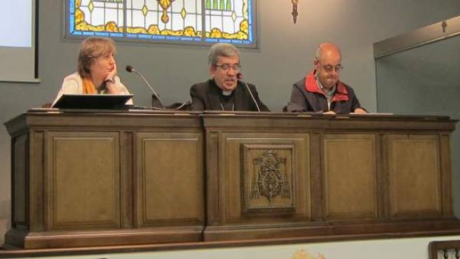 Sole Losada, Luis Argüello y Javier Gómez presentan el Domund