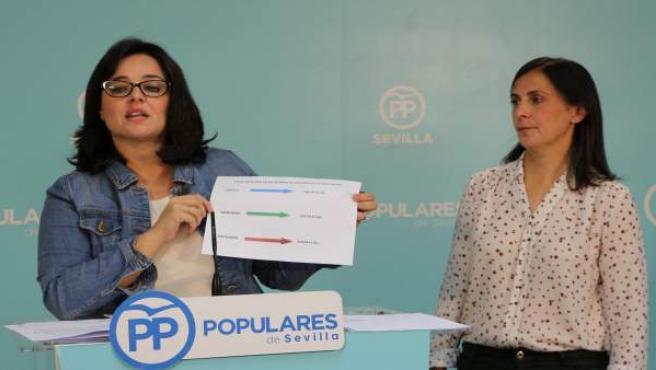 Virginia Pérez e Isabel Díaz.