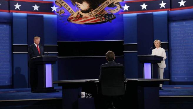 Debate entre Donald Trump y Hillary Clinton.