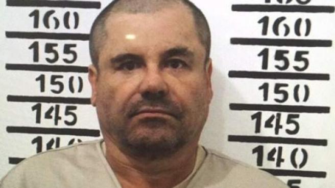 Foto de la ficha de prisión de Joaquín 'El Chapo' Guzmán.