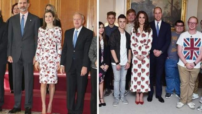 Imágenes de la reina Letizia y la duquesa de Cambridge, Kate Middleton.