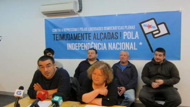 Rueda de prensa de los imputados en la 'Operación Jaro'