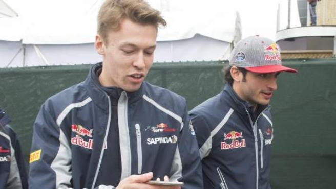 Daniil Kvyat y Carlos Sainz, el pasado junio en Canadá.