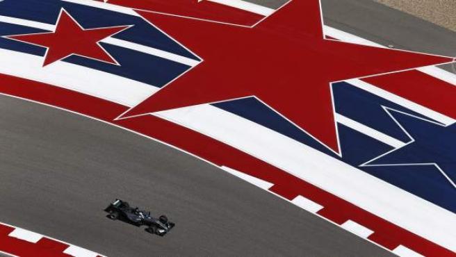 El Mercedes de Hamilton, en el GP de las Américas.