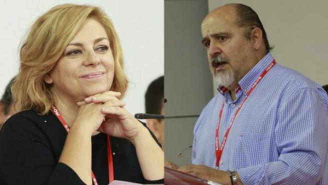 Elena Valenciano y Txarli Prieto, en el Comité Federal.