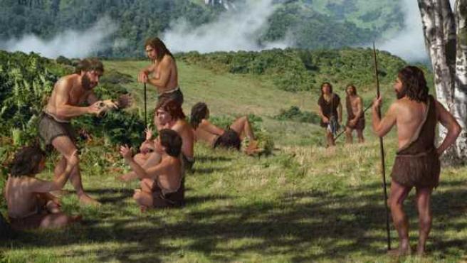 Los neandertales vivían en pequeños grupos familiares nómadas.