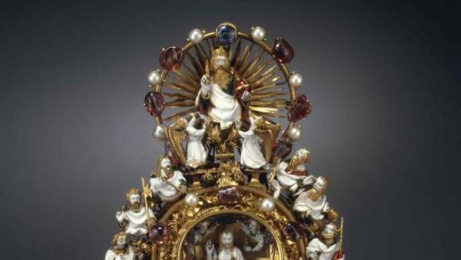 Relicario fabricado en París, entre 1390 y 1397, para guardar una reliquia de la Corona de Espinas de Jesucristo