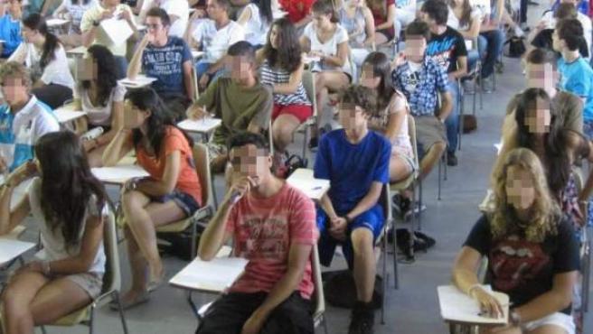 Alumnos de Bachillerato, en una imagen de archivo.