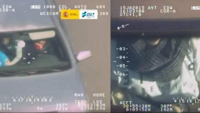Conductores cazados sin cinturón de seguridad