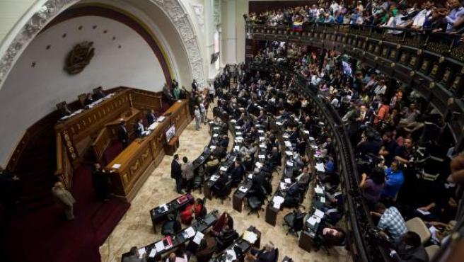 Vista general de la Asamblea Nacional, en Caracas.