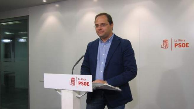 César Luena, en Logroño