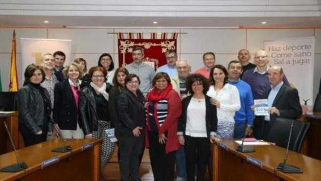 Miembros del Ayuntamiento de Benalmádena y del Distrito Sanitario Costa del Sol.