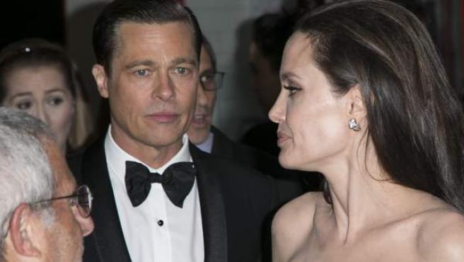 Brad Pitt y Angelina Jolie, en un evento en noviembre de 2015.
