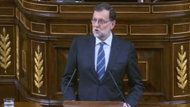 Rajoy, durante su discurso de este miércoles.