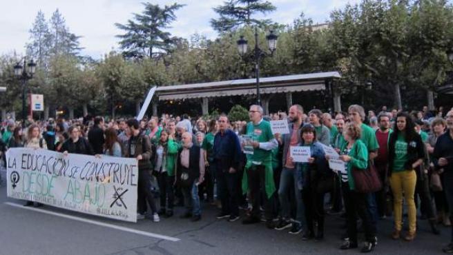 Concentración contra la Lomce y las reválidas el pasado mes de octubre.