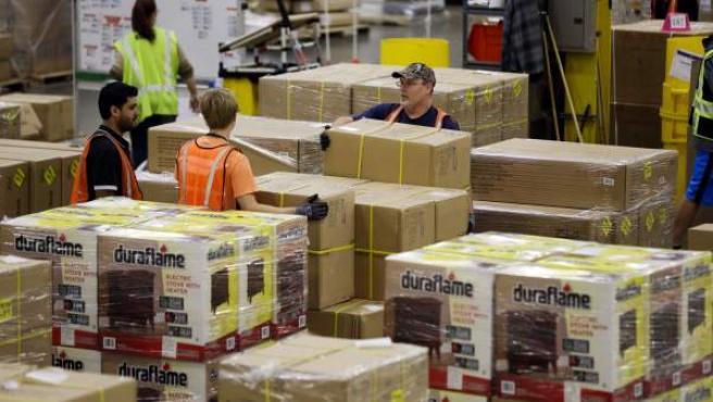 Imagen de archivo de un almacén de Amazon.