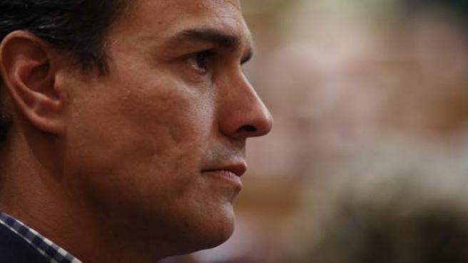 Pedro Sánchez, este jueves en el debate de investidura.