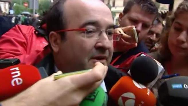 Iceta a su llegada al Comité Federal del PSOE.