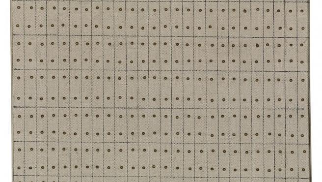 Rejillas trazadas a lápiz, un motivo recurrente en la obra de Agnes Martin