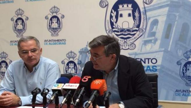 Rueda de prensa del teniente de alcalde de Algeciras Luis Ángel Fernández
