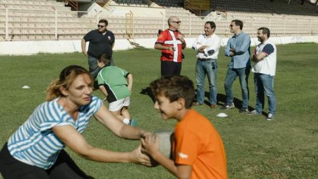 Visita de concejales del gobierno de Almería a programa de la URA
