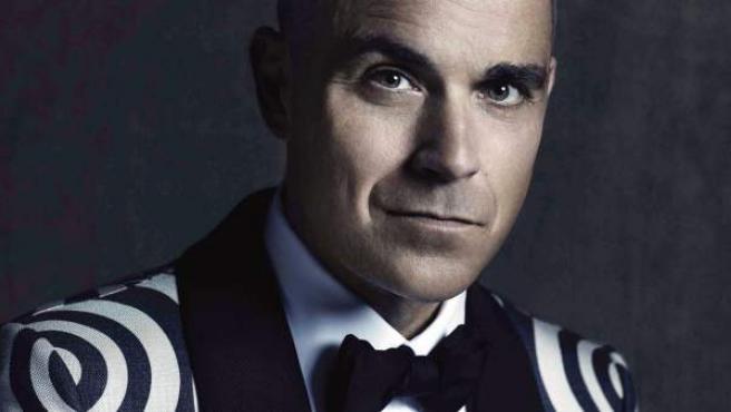 Fotografía promocional del músico británico Robbie Williams.