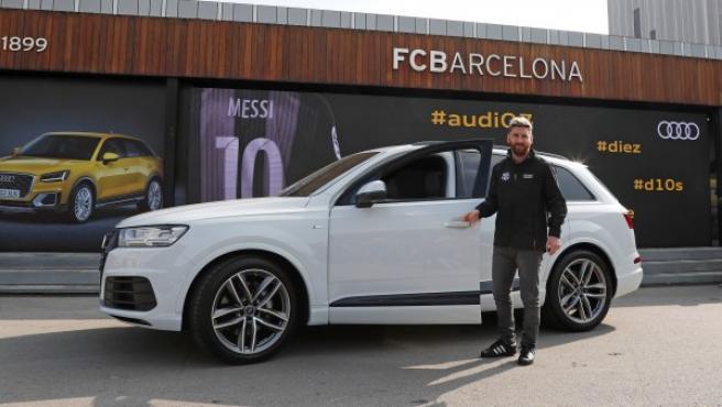 Messi escogió un Audi Q7 sport 3.0 TDI quattro 272 CV tiptronic.