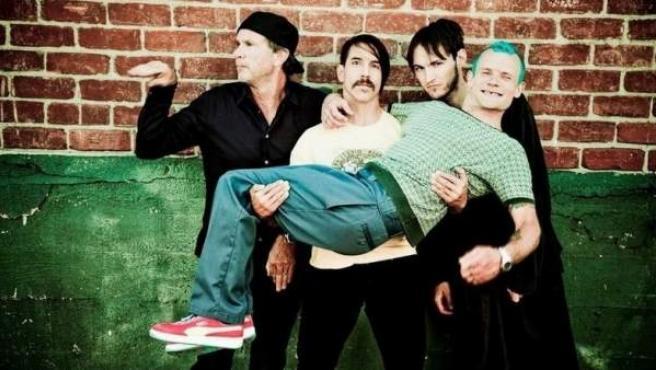Imagen promocional de Red Hot Chili Peppers.