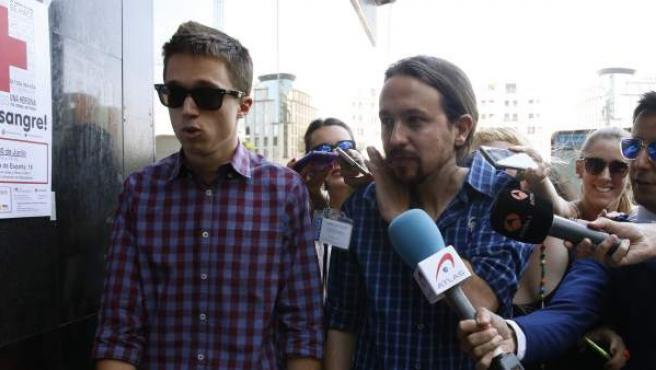 Iñigo Errejón y Pablo Iglesias, en una imagen tomada en Madrid.