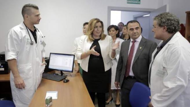 Susana Díaz en el nuevo centro de salud de La Mojonera