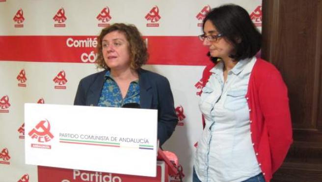 Doblas y Cruz en la sede del PCA en Córdoba