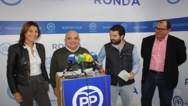 Jacobo Florido en rueda de prensa en Ronda.