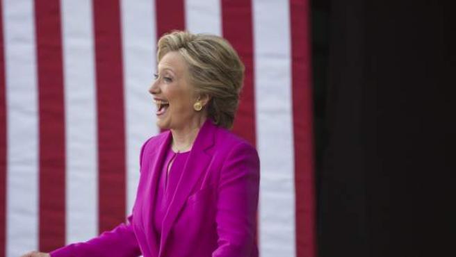 Hillary Clinton en un acto de campaña en Carolina del Norte.