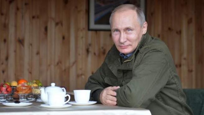 El presidente de Rusia, Vladimir Putin, en una visita a la región de Novgorod.