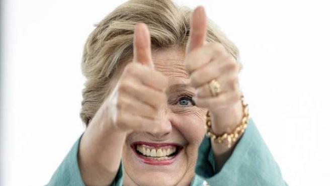 Hillary Clinton, en Florida, durante uno de los últimos mítines de su campaña para las elecciones presidenciales de 2016.