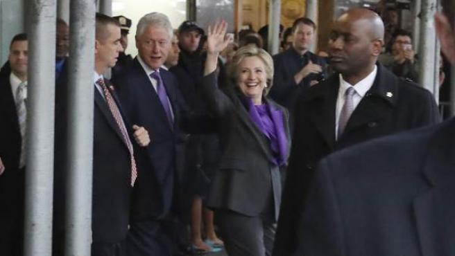 Hillary Clinton, la aspirante demócrata a la presidencia, comparece por primera vez tras la derrota electoral frente a Donald Trump.