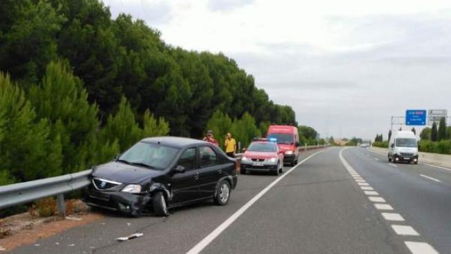 Accidente de tráfico en la A68, término de Tudela.
