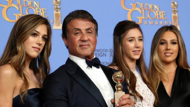 Las hijas de Stallone compartirán el título de Miss Golden Globe