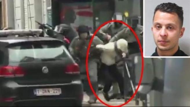 Momento de la detención de Salah Abdeslam el 18 de marzo.